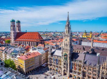 Bild der Skyline von München